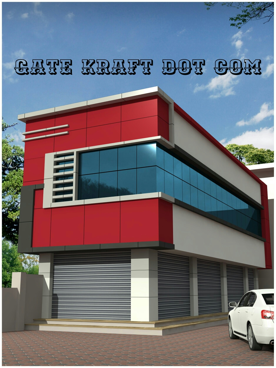 House Front Elevation Glass : House front elevation facade cladding hpl acp