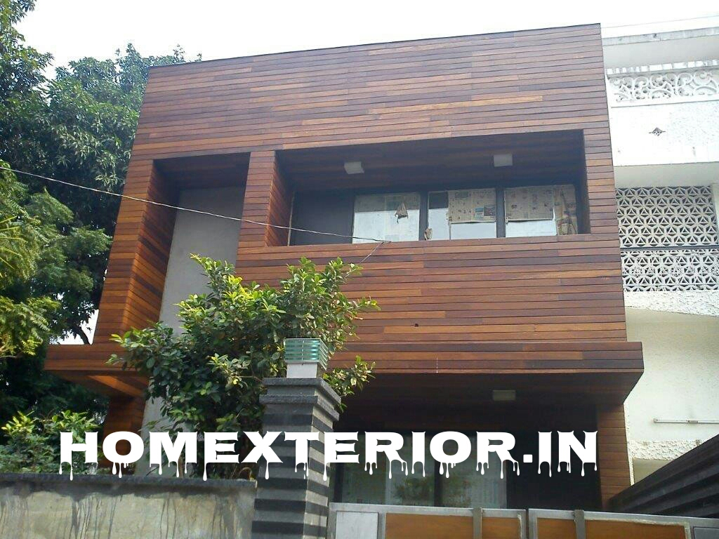 Wood On Elevation : Solid wood house elevation manufacturers in delhi