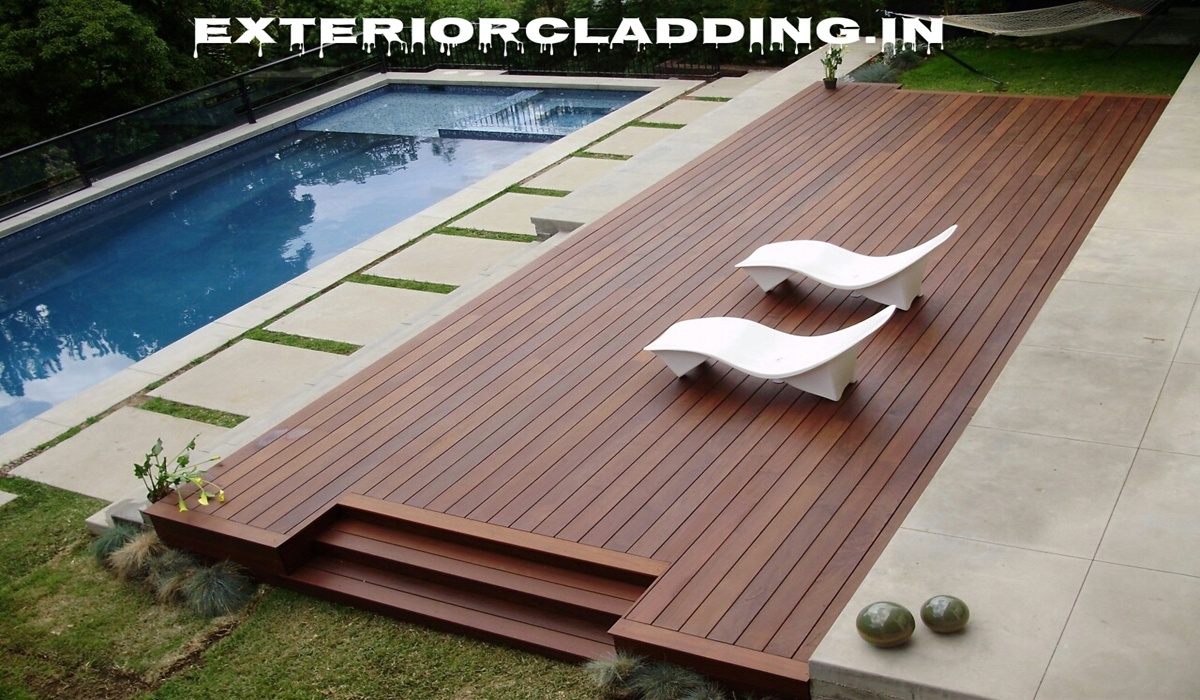 Solid wood decking wall cladding suppliers in delhi for Swimming pool installation companies