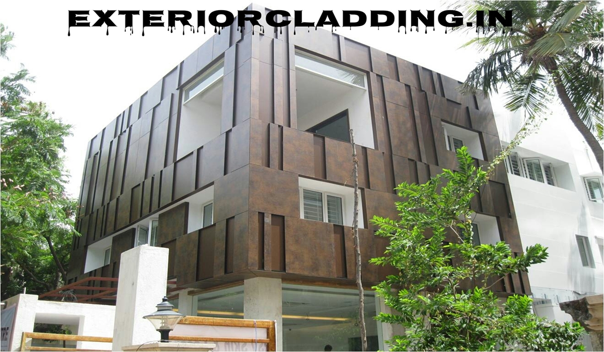 ... House Front Elevation Facade Cladding HPL & ACP Contractors in Delhi